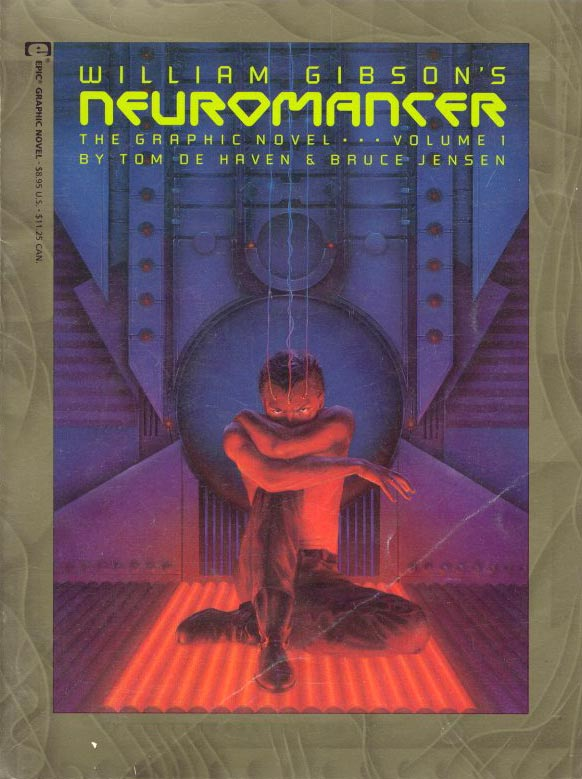 Book Cover Graphism Novels : William gibson aleph neuromancer adaptations